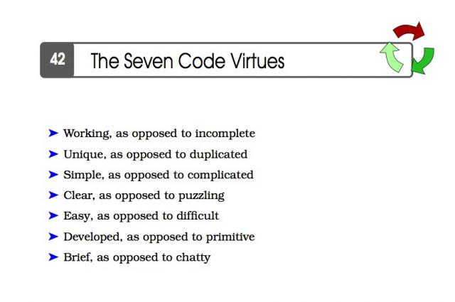 Seven Virtues of Code