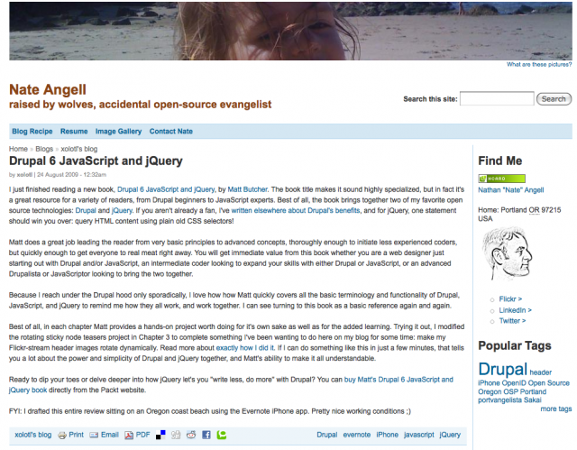 Review of Drupal 6 JS and jQuery