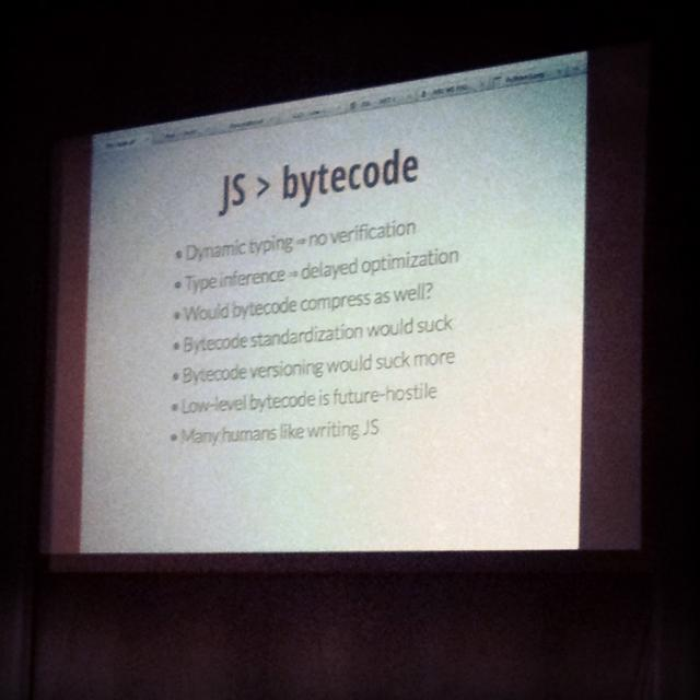 JavaScript and Bytecode