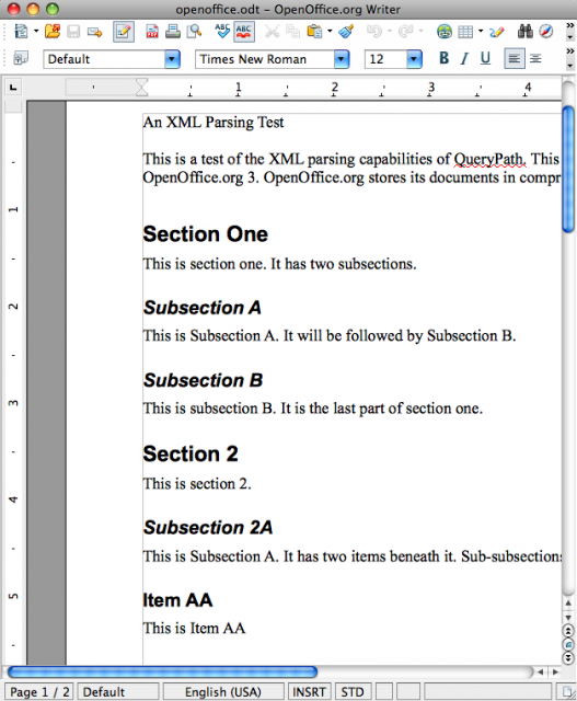 OpenOffice doc