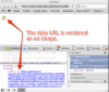 Data URL image embedded with QueryPath